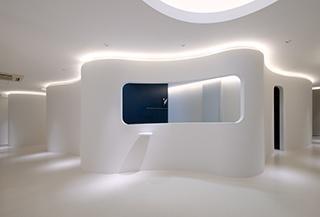 Clinic pharmacy design for Dermatology clinic interior design